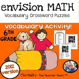 enVision Math 6th Grade Common Core 2012 Crossword Puzzles Topics 1-19
