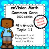 enVision Common Core 2020 Topic 11 Represent and Interpret Data on Line Plots