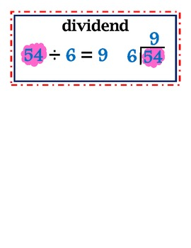 enVision Common Core 2014 Math Vocab Word Wall Cards Grade 5 Topic 3-4