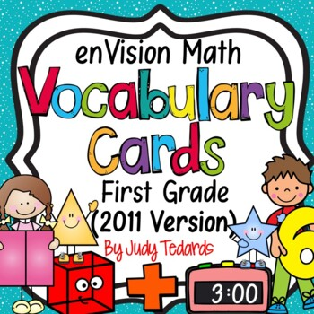 enVision Common Core Math Vocabulary Cards for 1st grade