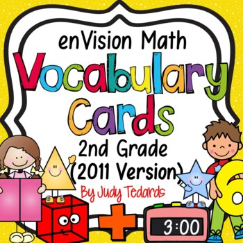 enVision Common Core Math Vocabulary Cards for 2nd grade