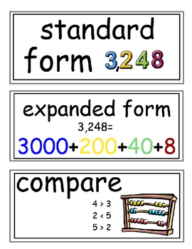 enVision Grade 2 Topics 17-18 Vocabulary Word Wall Cards