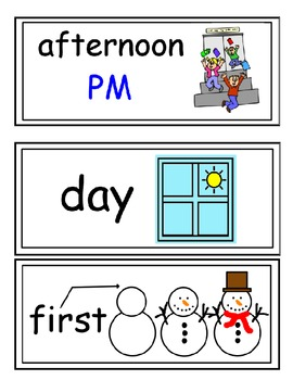 enVision Grade K Topic 14 Vocabulary Word Wall Cards