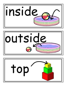 enVision Grade K Topic 2 Vocabulary Word Wall Cards