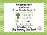 enVision Kindergarten Task Cards Topic 7