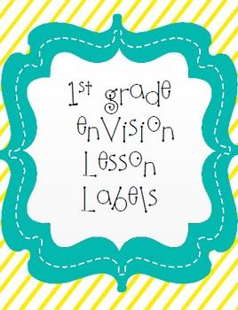 enVision Math Lesson Labels 1st grade