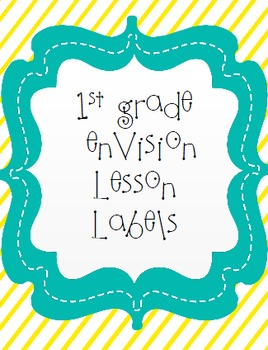 enVision Math Lesson Labels 1st grade
