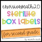 enVision Math 2.0 Sterilite Labels 2nd Grade
