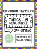 enVision Math 2.0 2nd Grade Topics 1-15 Mega Bundle