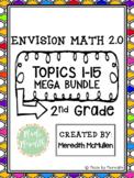 enVision Math 2.0 2nd Grade Topics 1-15 Mega Bundle