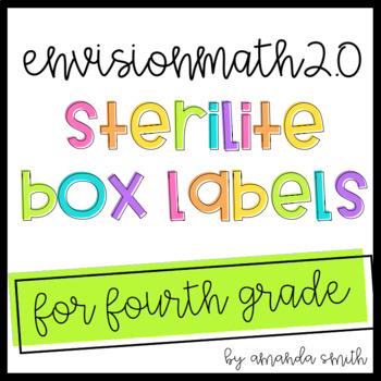 enVision Math 2.0 Sterilite Labels 4th Grade