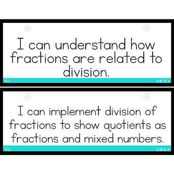 enVision Math 2.0 I Can Statements for Focus Walls 5th Grade