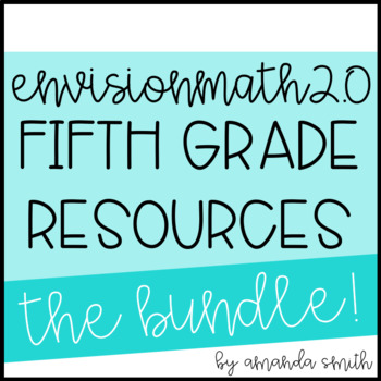 enVision Math 2.0 5th Grade Resource Bundle