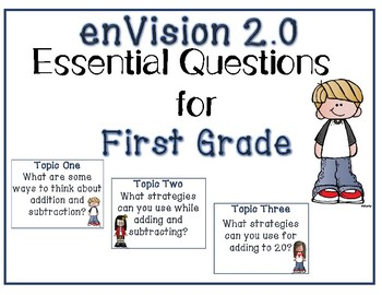 enVision Math 2.0 Essential Questions for First Grade