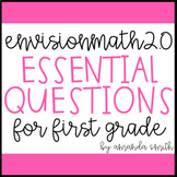 enVision Math 2.0 Essential Questions for Focus Walls 1st Grade