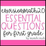 enVision Math 2.0 Essential Questions for Focus Walls 1st Grade