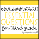 enVision Math 2.0 Essential Questions for Focus Walls 3rd Grade