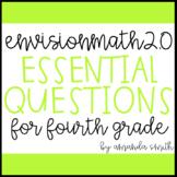 enVision Math 2.0 Essential Questions for Focus Walls 4th Grade