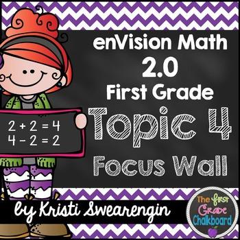 enVision Math 2.0 Focus Wall Topic 4 (First Grade)