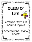 enVision Math 2.0 Grade 1 Topic 3 Assessment Review Sheet