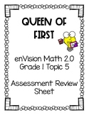 enVision Math 2.0 Grade 1 Topic 5 Assessment Review