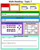 enVision Math 2.0 Grade 1 Topic 7 SmartBoard Warm Up Slides