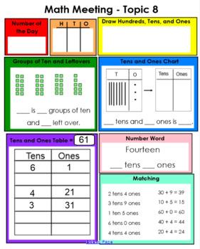 enVision Math 2.0 Grade 1 Topics 5-8 SmartBoard Warm Up Slides