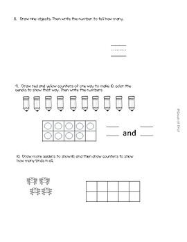 enVision Math 2.0 Grade K Topic 3 Assessment Review