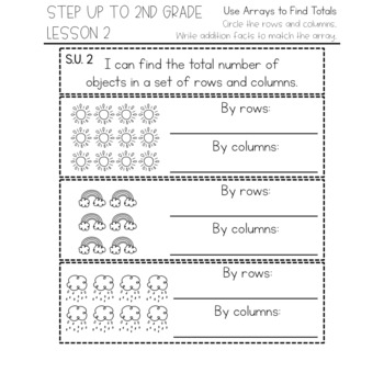 enVision Math 2.0 Interactive Math Journal 1st Grade Step up to Second Grade