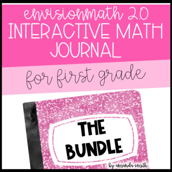 1st Grade enVision Math 2.0 Interactive Math Journal BUNDLE