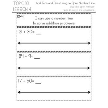 enVision Math 2.0 Interactive Math Journal 1st Grade Topic 10