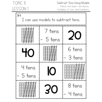 enVision Math 2.0 Interactive Math Journal 1st Grade Topic 11