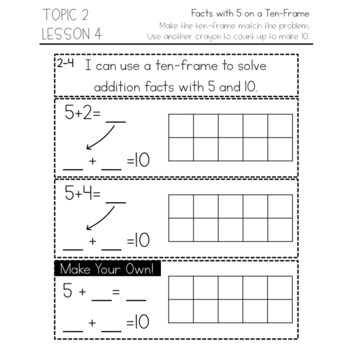 enVision Math 2.0 Interactive Math Journal 1st Grade Topic 2