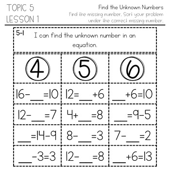 enVision Math 2.0 Interactive Math Journal 1st Grade Topic 5
