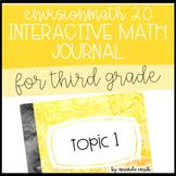 enVision Math 2.0 Interactive Math Journal 3rd Grade Topic 1