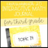 enVision Math 2.0 Interactive Math Journal 3rd Grade Topic 14