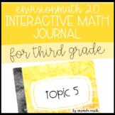 enVision Math 2.0 Interactive Math Journal 3rd Grade Topic 5