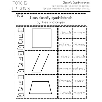 enVision Math 2.0 Interactive Math Journal 4th Grade Topic 16