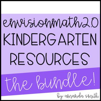 enVision Math 2.0 * Kindergarten Grade Resource Bundle