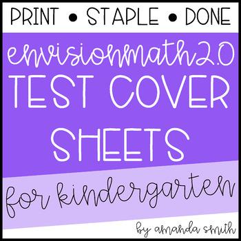 enVision Math 2.0 Test Assessment Cover Sheets * Kindergarten