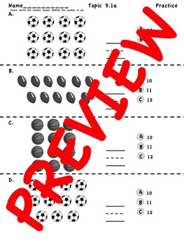 enVision Math 2.0 Kindergarten Topic 9 Practice
