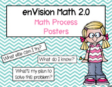 enVision Math 2.0 Math Process Posters for Classroom Display