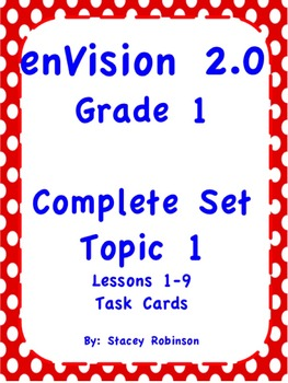 enVision Math 2.0  Topic 1  Grade 1  Task Cards