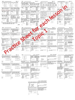 enVision Math 2.0 Topic 1 Practice Sheets Grade 1 by ...