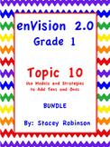 enVision Math 2.0  Topic 10  BUNDLE Grade 1
