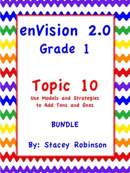enVision Math 2.0  Topic 10  BUNDLE Grade 1