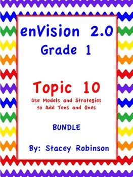 enVision Math 2.0  Topic 10   ~BUNDLE~ Grade 1