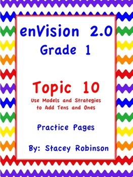 enVision Math 2.0  Topic 10   Grade 1  Practice Sheets