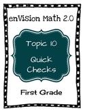 enVision Math 2.0 Topic 10 Quick Checks - 1st Grade