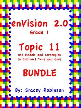 enVision Math 2.0  Topic 11  BUNDLE Grade 1